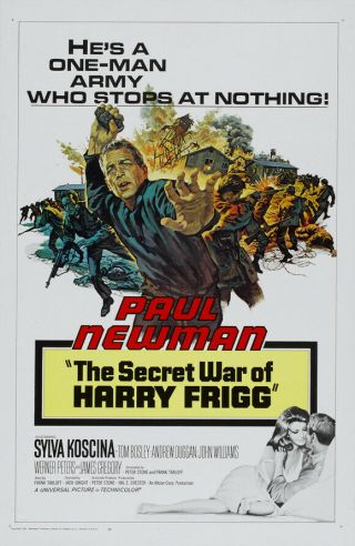 Rare 16mm Feature: Secret War Of Harry Frigg (i B Technicolor) Paul Newman