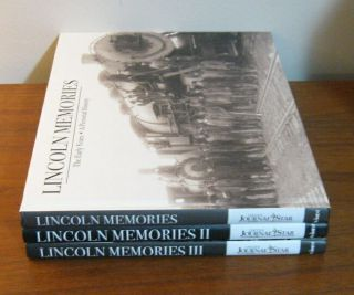 Complete 3 Vol Set Lincoln Memories Pictorial History Rare Photographs Nebraska