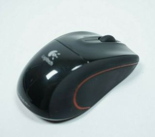 Logitech Black Wireless Laser Mouse And Receiver M - 505 - Rare