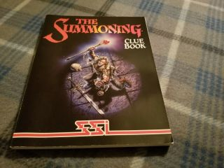 The Summoning Clue Book Only Strategic Simulations 1992 Rare Very Good