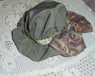 """Antique Large Lined Doll Hat For French,  German Bisque Doll - 11 """" Around"""