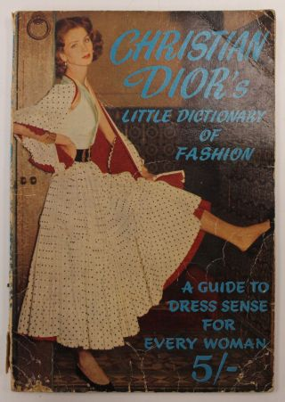 Rare Christian Dior Little Dictionary Of Fashion 1954 Paperback - A23