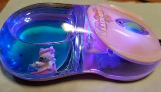 Rare Hello Kitty In Boat Water Blue Gel Optical Wired Mouse Lights Up Usb Plug
