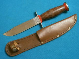 "Rare Vintage Schrade Walden Ny Usa H15 "" Survival "" Etch Hunting Bowie Knife Knives"