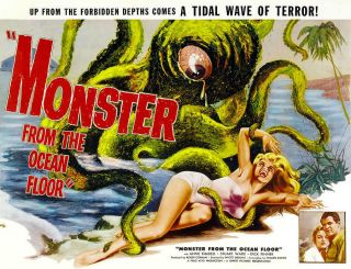 Rare 16mm Feature: Monster From The Ocean Floor (roger Corman