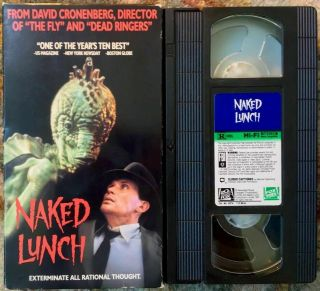 """naked Lunch"" Vhs David Cronenberg Very Rare Science Fiction Horror"
