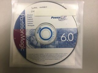Partition Magic 6.  0 From Power Quest In 5 Different Languages - Rare
