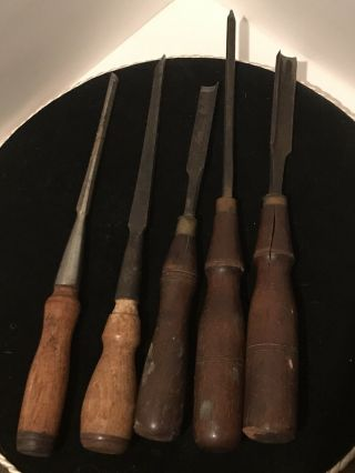 Vintage / Antique Wood Chisels