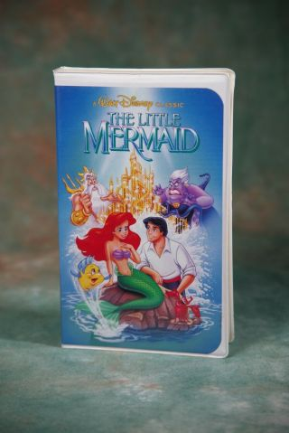 Rare The Little Mermaid Black Diamond Edition (vhs,  1989) With Banned Cover