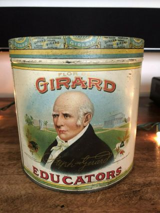Vintage Rare Cigar Tobacco Advertising Tin Canister – Girard Educators