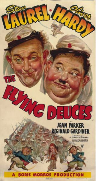 Laurel & Hardy The Flying Deuces Vintage Movie Poster