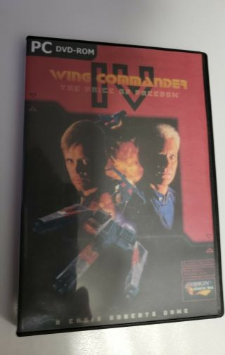 Wing Commander Iv: Price Of Freedom Pc 2 - Sided Dvd Game Rare Mpeg 2 Compressed
