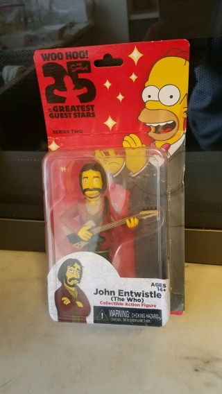 Neca The Simpsons Series 2,  John Entwistle Action Figures,  The Who,  5.  1 ""