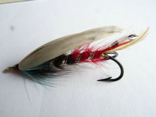 Fine Early 20th Century Gut Eyed Double Hook White Wing Size 4/0,  1/4 Salmon Fly