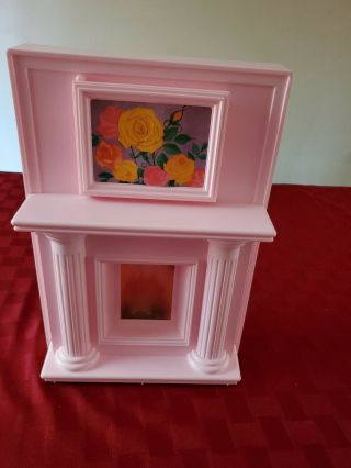 Barbie Magical Mansion Fireplace / Kitchen Work Center - - Extremely Rare 3