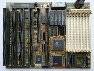 386 Motherboard W/ Amd 386 Dx - 40 Onboard,  128 Kb Cache Rare Ali M1429 Sn688