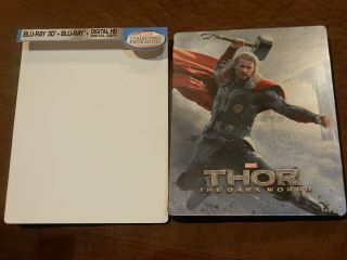 """ Thor: The Dark World "" 2 - Disc 3d/2d Blu - Ray Steelbook Rare Marvel Rare Oop"