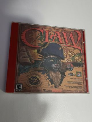 Captain Claw Monolith Dvd Game Pc 1997 Very Rare