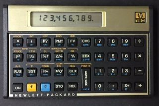 Hewlett Packard Hp 12c Financial Calculator And Vintage Rare