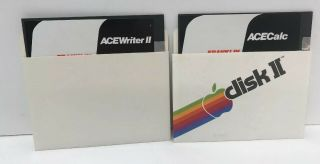 Franklin Acewriter Ii 2 And Acecalc Disks Vintage Rare Disks Only