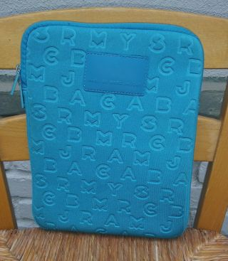 Marc By Marc Jacobs Blue Quilted Padded Ipad Tablet Case Cover Sleeve Rare