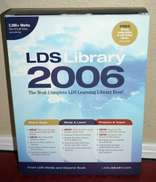 Lds Collectors Library 2006 (on Cd) Latter - Day Saints Mormon Religious Rare