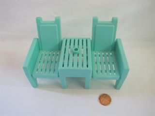 Playskool Dollhouse Lounge Chairs For Front Porch Outdoor Furniture Rare