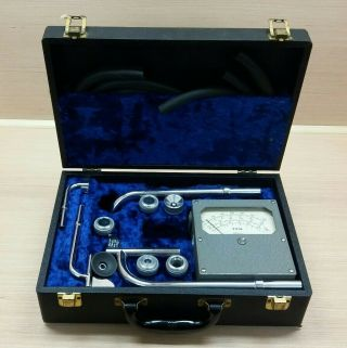 Alnor Velometer With Case,  Manuals,  And Attachments Antique