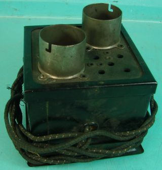 Very Early Vtg Antique Battery Radio Double Amp Tube Type Tester Jefferson?