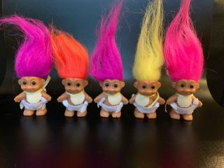 """Complete Color Set Russ Baby Troll Dolls 2.  5"""" 