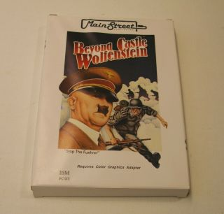 Very Rare Beyond Castle Wolfenstein For The Ibm Pc/xt/at - In The Box