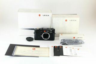 [super Rare]leica M6 Ttl 0.  85 Nsh Black Paint 35mm Rangefinder Camera W/box 6014