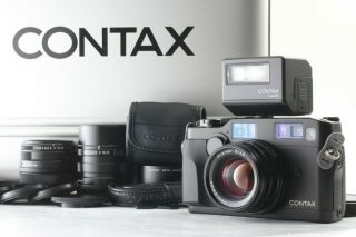 【 Rare / All 】contax G2 Black Body W/ 3 Lens & Tla 200 Set From Japan 28