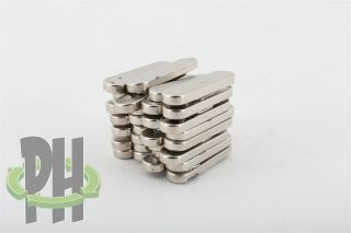 30 Neodymium Oval Magnets Large Strong Rare Earth Approx.  25mm × 5mm × 2mm