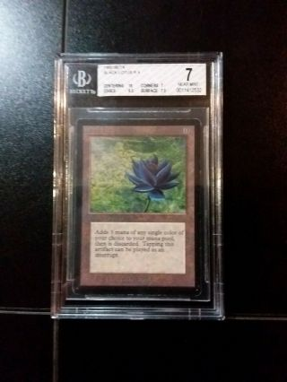 1993 Magic The Gathering Mtg Beta Black Lotus R A Bgs 7 Near