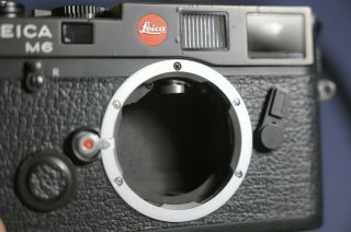 Leica M6 Classic (solms) Black Body 0.  85 Schwarz Late And Rare
