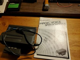 Rare Commodore Branded Magic Voice Cartridge With Cable And Instructions