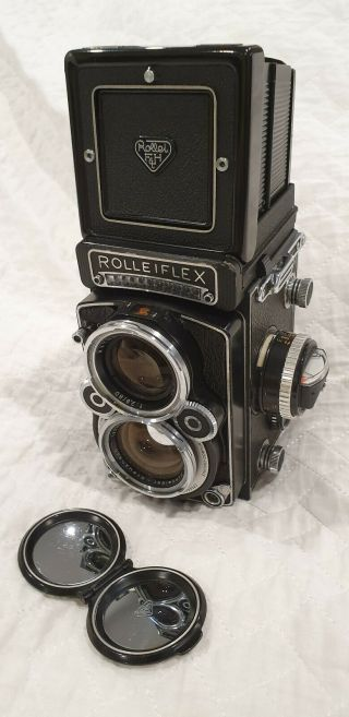 Very Rare And Collectable Rolleiflex 2.  8f White Face Xenotar 80mm F2.  8