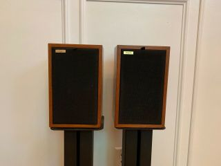 Rogers Ls3/5a Monitor Speakers 15 Ohms Rare Gold Label 1324 A And B.