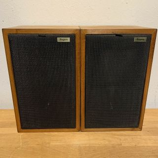 Rare Pair Walnut Finished Rogers Ls3/5a Gold Badge Bbc Studio Monitor Speakers