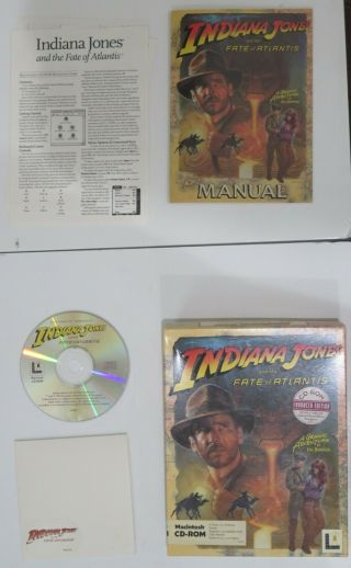Indiana Jones And The Fate Of Atlantis Mac Edition Rare Collectible Game