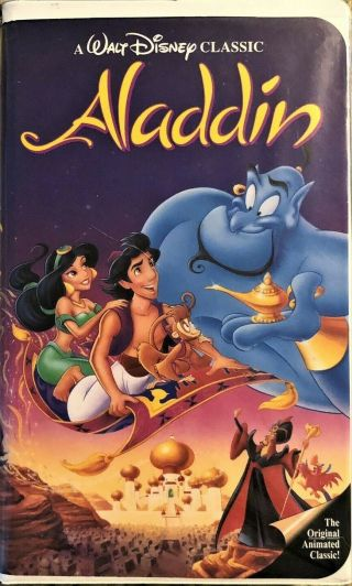 Aladdin Rare Black Diamond Edition (vhs,  1993) Video Tape Collector Item