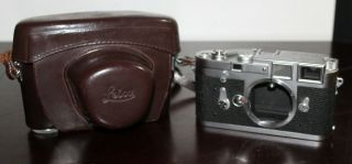 Rare Vintage Leica M3 Rangefinder Camera Body Late Ds Models With Case