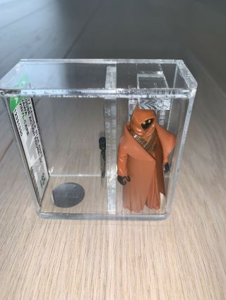 Vintage 1977 Star Wars The Vinyl Cape Jawa Afa Graded 85 Nm,  Rare