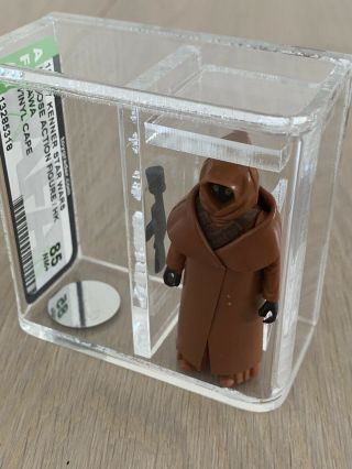 Vintage 1977 Star Wars The Vinyl Cape Jawa Afa Graded 85 Nm,  Action Figure