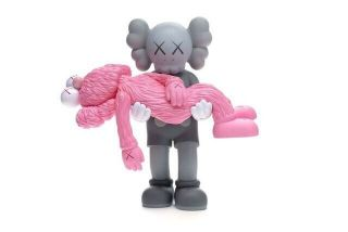 Kaws Gone Companion Bff Vinyl Figure Pink Grey Limited In Hand Ready To Ship