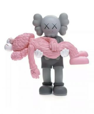 Kaws Gone Companion Bff Vinyl Figure Ngv Pink Grey Limited In Hand/ready To Ship