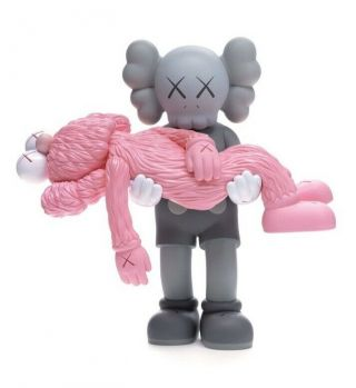 Kaws Gone Companion Bff Vinyl Figure Ngv Pink Grey Limited Confirmed Order