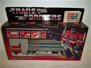1984 Transformers G1 Optimus Prime Contents Afa Worthy