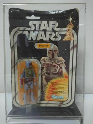 Vintage 1979 Kenner Stars Wars 21 Back - B Boba Fett With Acrylic Case